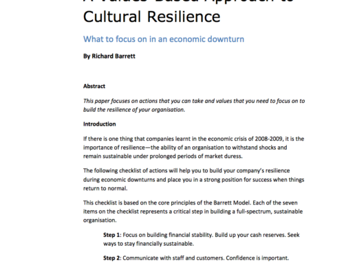 Article: A Values-Based Approach to Cultural Resilience